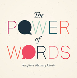 Power of Words Scripture Memory Cards